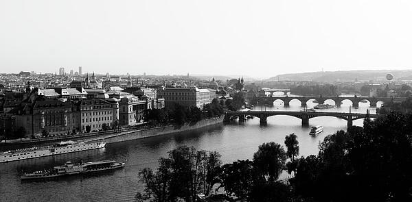 Vltava River At Prag Print by Jörg Wendland