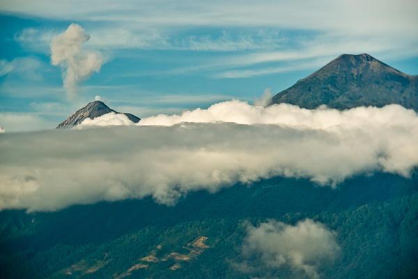 Volcan De Agua Antiqua Gutemala Erupting 8 Print by Douglas Barnett