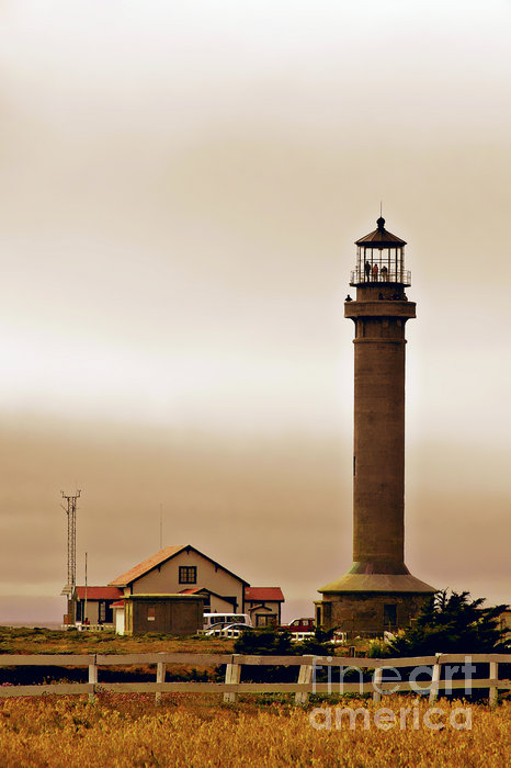 Wacky Weather At Point Arena Lighthouse - California Print by Christine Till