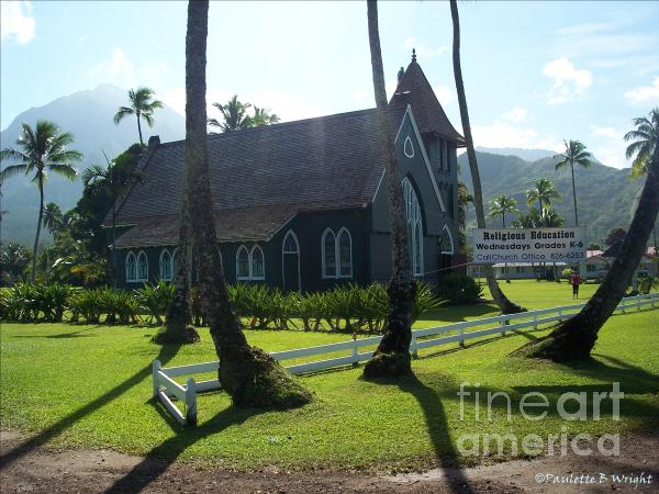 Wai Oli Hui Ia Church Photograph  - Wai Oli Hui Ia Church Fine Art Print