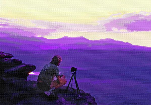 Waiting For The Sunrise - Dead Horse Point Utah Print by Steve Ohlsen