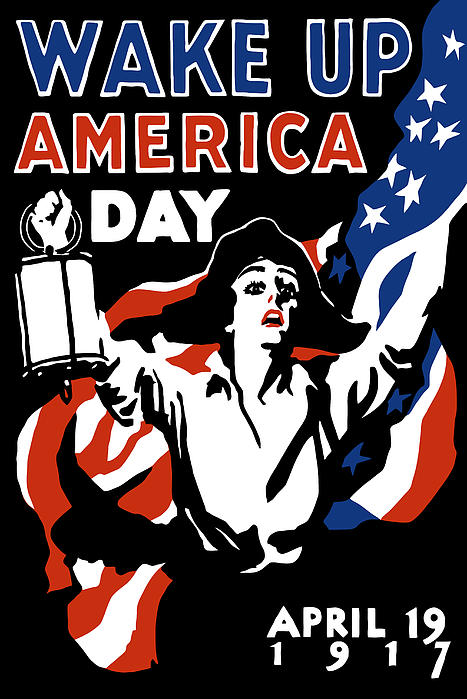 Wake Up America Day Print by War Is Hell Store