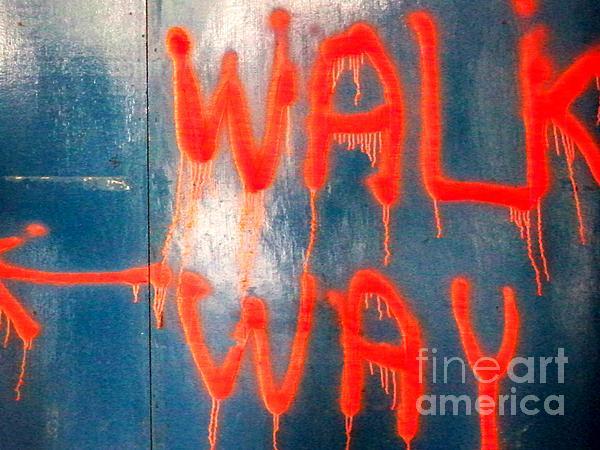 Walk Way Print by Newel Hunter
