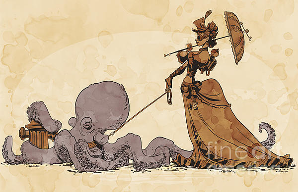 Walkies For Otto Print by Brian Kesinger