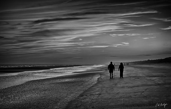 Walking The Beach  Print by Phill  Doherty