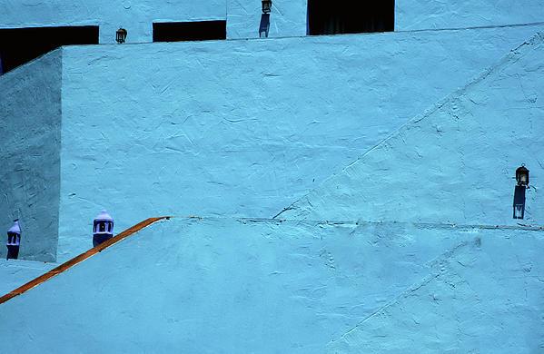 Walls In Blue Print by Piet Scholten