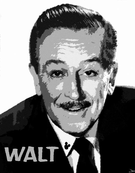 Walt Print by David Lee Thompson