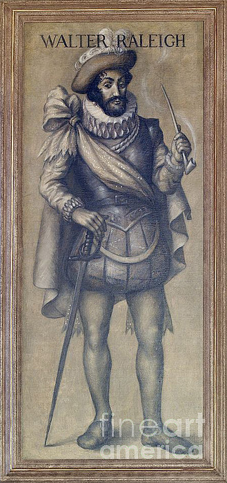 Walter Raleigh, English Explorer Print by Photo Researchers