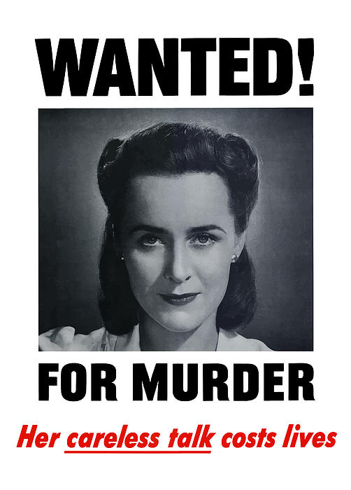 Wanted For Murder Print by War Is Hell Store