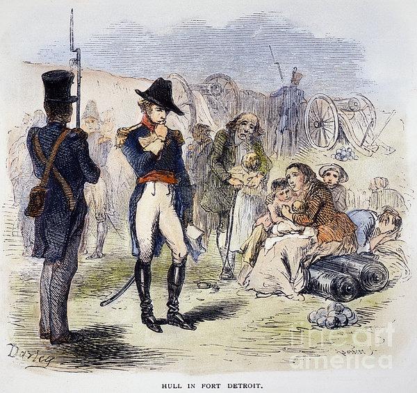 War Of 1812: Fort Detroit Print by Granger