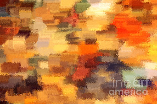 Warm Colors Under Glass - Abstract Art Print by Carol Groenen