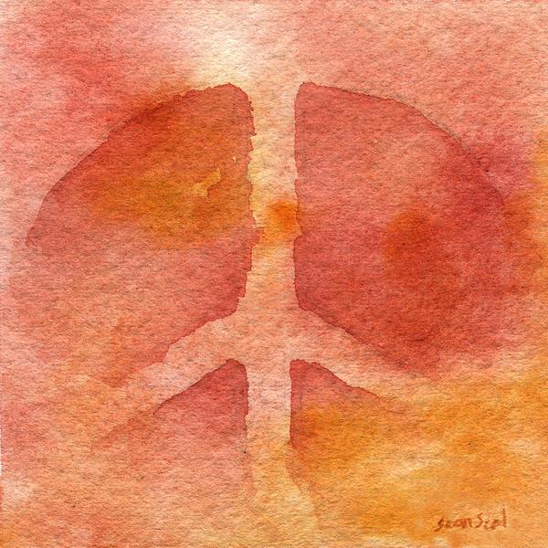 Warm Peace Print by Sean Seal