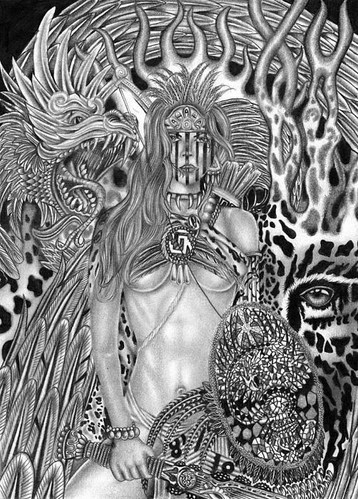 Warrior Princess Print by Michael Reymann