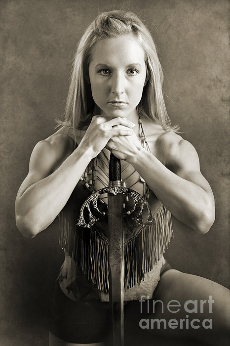 Warrior Woman Print by Cindy Singleton