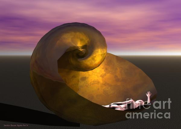 Washed Ashore Print by Sandra Bauser Digital Art