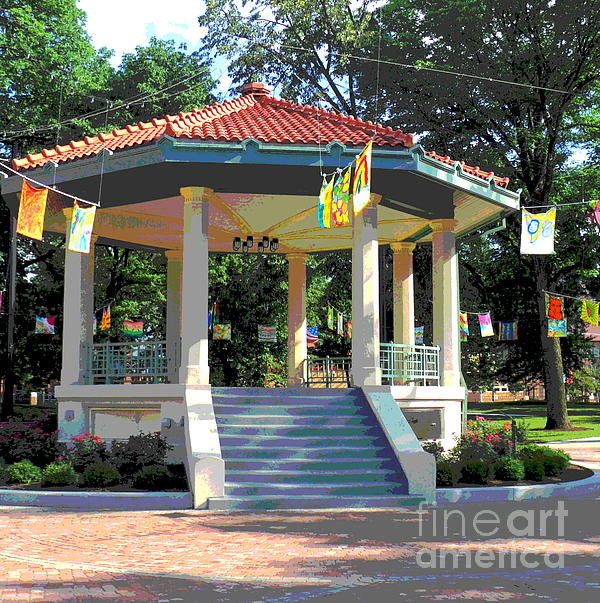Washington Park Bandstand Print by Jennifer Kelly