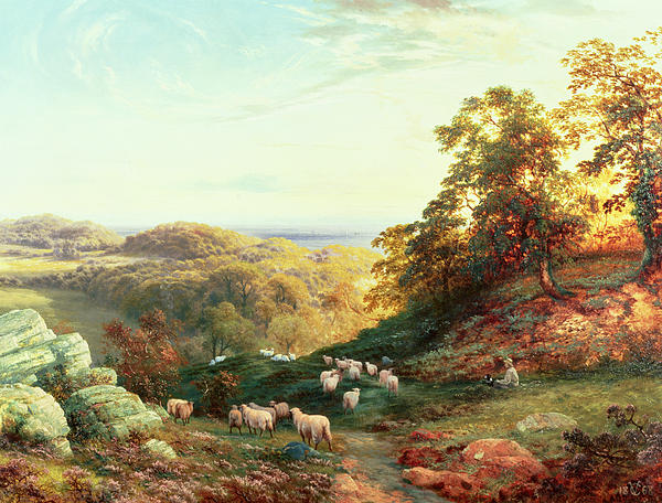 Watching The Flock Print by George Vicat Cole