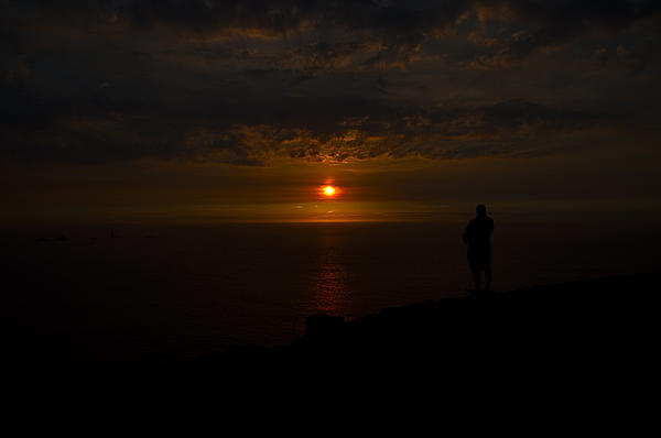 Watching The Sunset Print by Paul Howarth