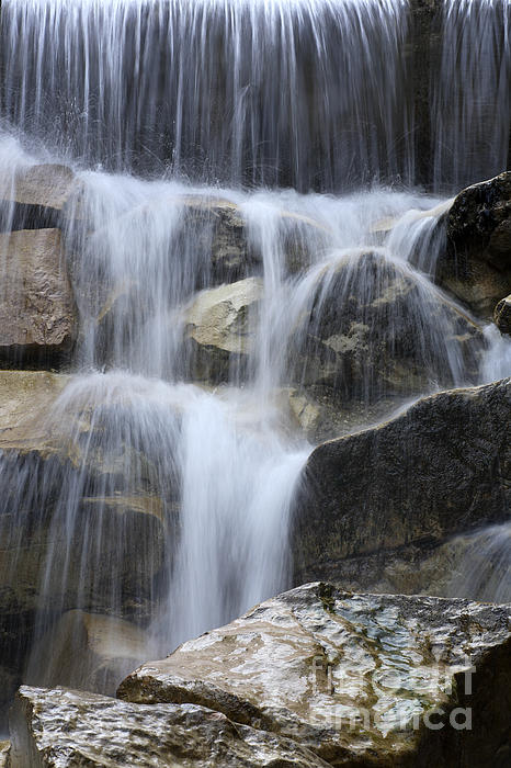 Water And Rocks Print by Frank Tschakert