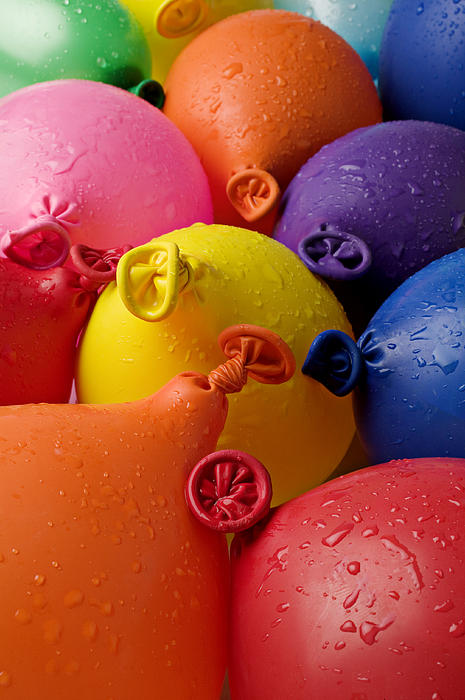 Water Balloons Print by Garry Gay