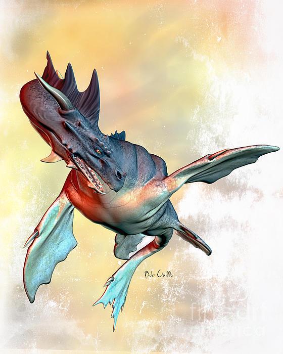 Water Dragon Print by Bob Orsillo