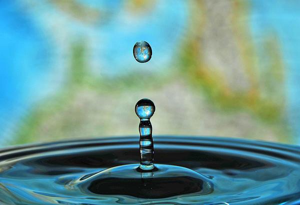 Water Drop 2 Print by Donna Caplinger