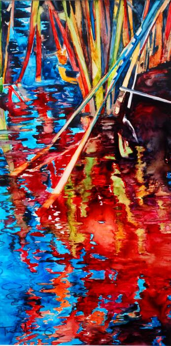 Water Fireworks II Painting