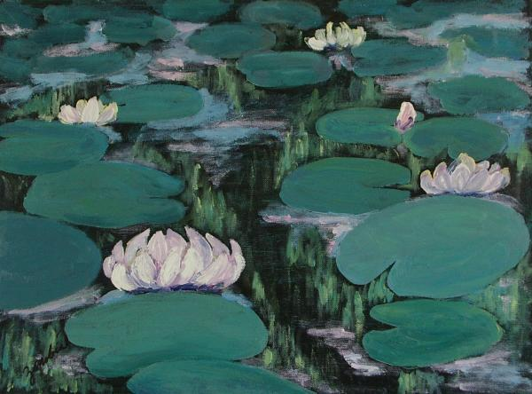 Water Lilies In Hawaii Painting  - Water Lilies In Hawaii Fine Art Print