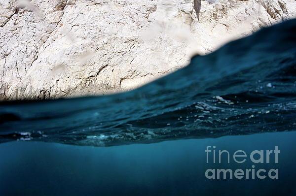 Water Surface Split Shot Print by Sami Sarkis