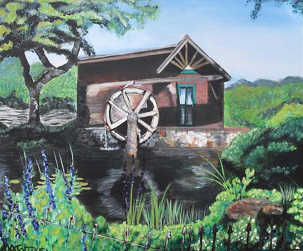Water Wheel Print by Melissa Torres