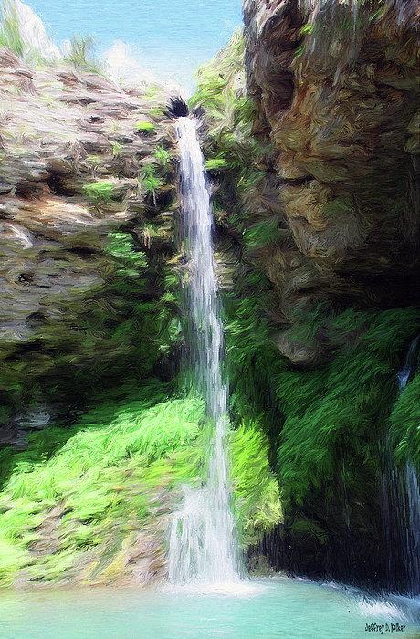 Waterfall 2 Print by Jeff Kolker