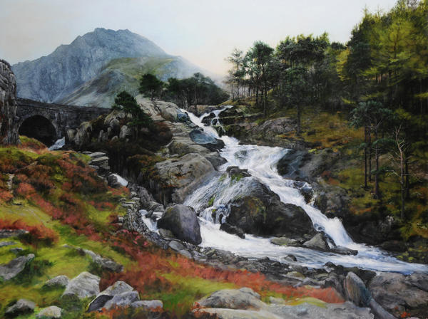 Waterfall In February. Print by Harry Robertson
