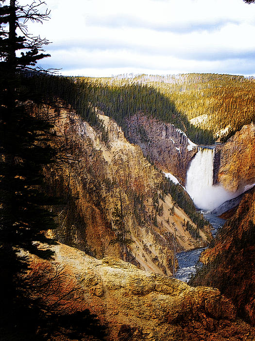 Waterfall Yellowstone 2 Print by Jo-Anne Gazo-McKim