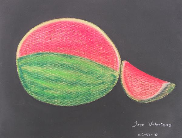 Watermelon Print by Jose Valeriano