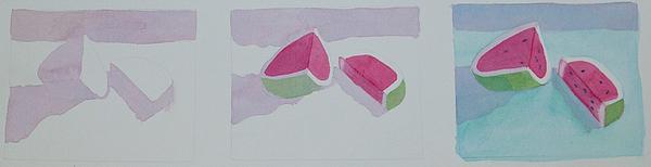Watermelon Study Print by Charlotte Hickcox