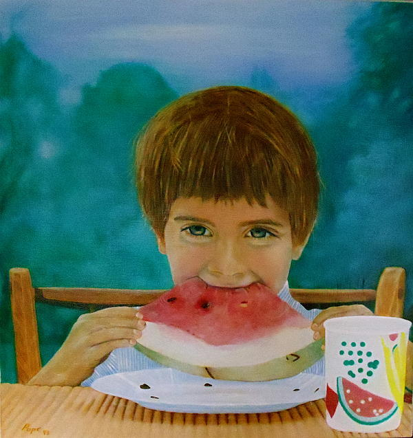 Watermelon Time Print by Bruce Ben Pope