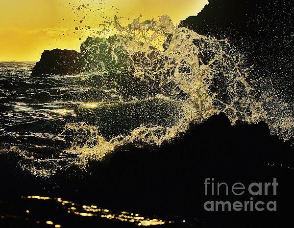 Blair Stuart - Wave break at sunset