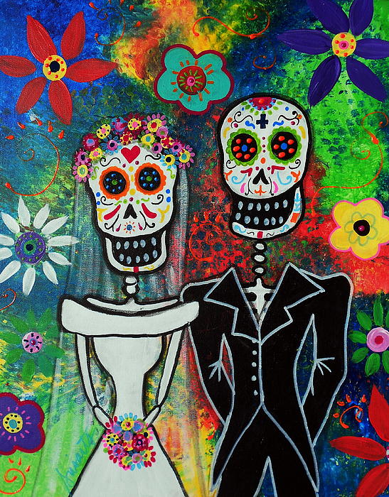 Wedding Couple Day Of The Dead by Pristine Cartera Turkus