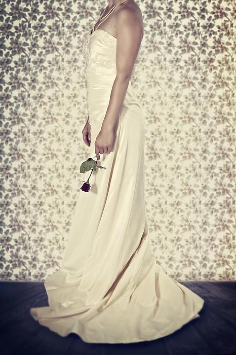 Wedding Dress Print by Joana Kruse