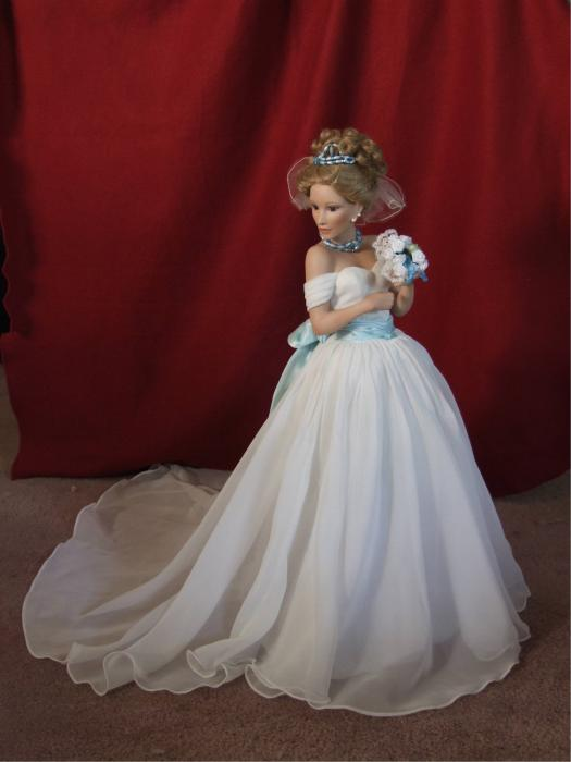 Wedding Gown Print by Chuck Shafer