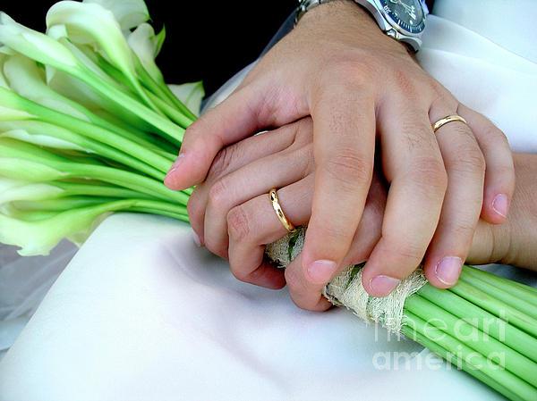 Wedding Rings Print by Carlos Caetano