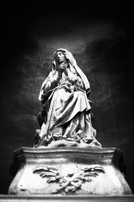 Weeping Madonna Print by Gaspar Avila