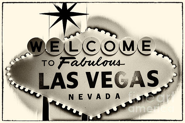 Welcome To Fabulous Las Vegas Nevada Print by Leslie Leda