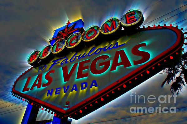 Welcome To Las Vegas Print by Kevin Moore