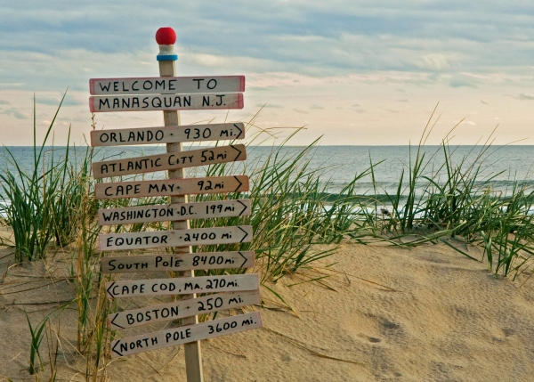Welcome To Manasquan Print by Robert Pilkington