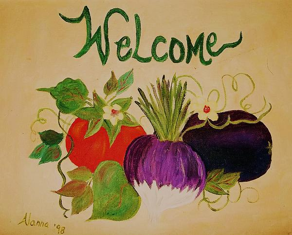 Welcome To My Kitchen Print by Alanna Hug-McAnnally