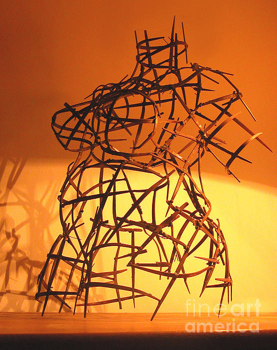 Welded Torso Print by Tommy  Urbans