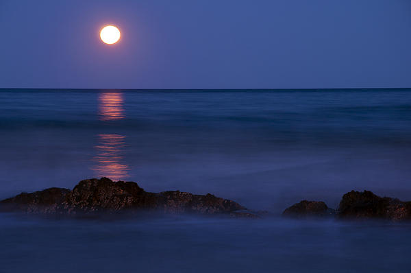 Glenn Gordon - Wells Beach Maine Moonrise