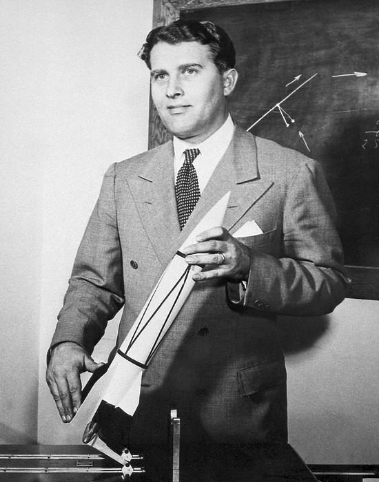 Wernher Von Braun, German Rocket Designer Print by Nasa