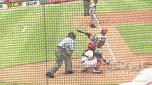 Werth Swings For Phillies Print by Lani PVG   Richmond